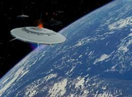 UFO near Earth